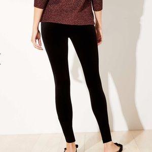 LOFT velvet skinny leggings